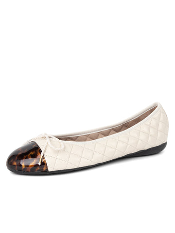 Womens CAREY/NAP HIELO Best Quilted Leather Ballet Flat