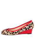 Womens Jaguar Beige Suede Noble Jaguar Print Wedge 6