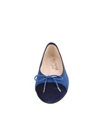 Womens Navy Suede Bravo Suede Ballet Flat 4 Alternate View