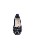 Womens PAT/NAP NAVY Nuba Quilted Leather Wedge 4
