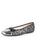 Womens Pewter/Black Multi Candy Ballet Flat