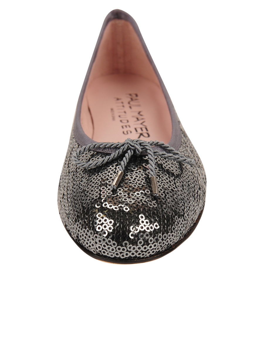 Womens Pewter Bingo Sequin Ballet Flat 4