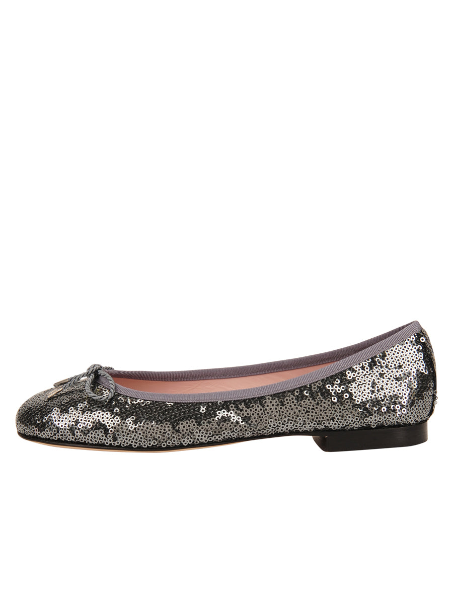 Womens Pewter Bingo Sequin Ballet Flat 6