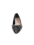 Womens Pewter Regal Pointed Toe Kitten Heel 4