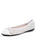 Womens White Brandy Perforated Ballet Flat