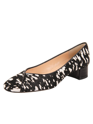 Womens Black/White Haircalf Audrey