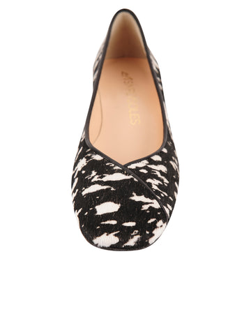 Womens Black/White Haircalf Audrey 4 Alternate View