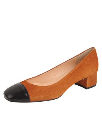 Womens Brandy Suede/Black Leather Olivia