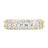 Womens Clear w/ Gold The Oval Cut Full CZ Eternity Band .925 sterling silver