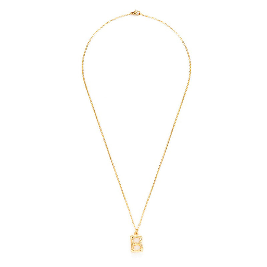 Womens Gold Gold Initial Necklace 4