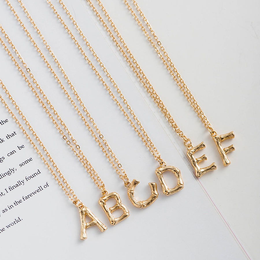 Womens Gold Gold Initial Necklace