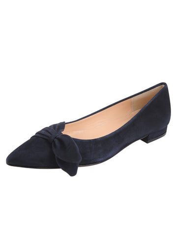 Navy pointed toe flat