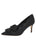 Womens Black Moire Pointed Toe Pump