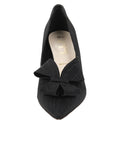 Womens Black Moire Pointed Toe Pump 4