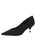 Womens Black Moire Noris Pointed Toe Kitten Heel