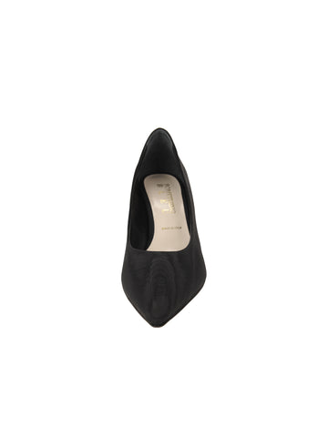 Womens Black Moire Noris Pointed Toe Kitten Heel 4 Alternate View