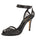 Womens Black Rhinestone Mesh Hope Peep-Toe Sandal