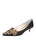 Womens Black Satin Brinsley Pointed Toe Kitten Heel