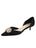 Black satin d'Orsay kitten heel