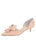 Womens Blush Patent Cliff d'Orsay Kitten Heel