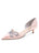 Womens Blush Satin Darla d'Orsay Kitten Heel