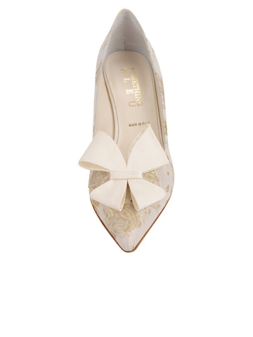 Womens Ivory Romance Pointed Toe Pump 4 Alternate View