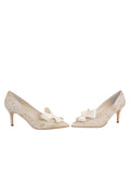 Womens Ivory Romance Pointed Toe Pump 5