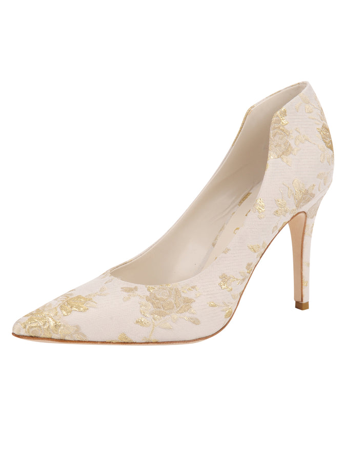 Stella Pointed Toe Pump - Ivory Romance