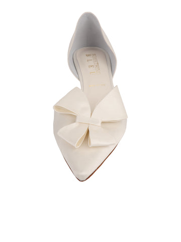 Womens Ivory Satin Cliff d'Orsay Kitten Heel 4 Alternate View