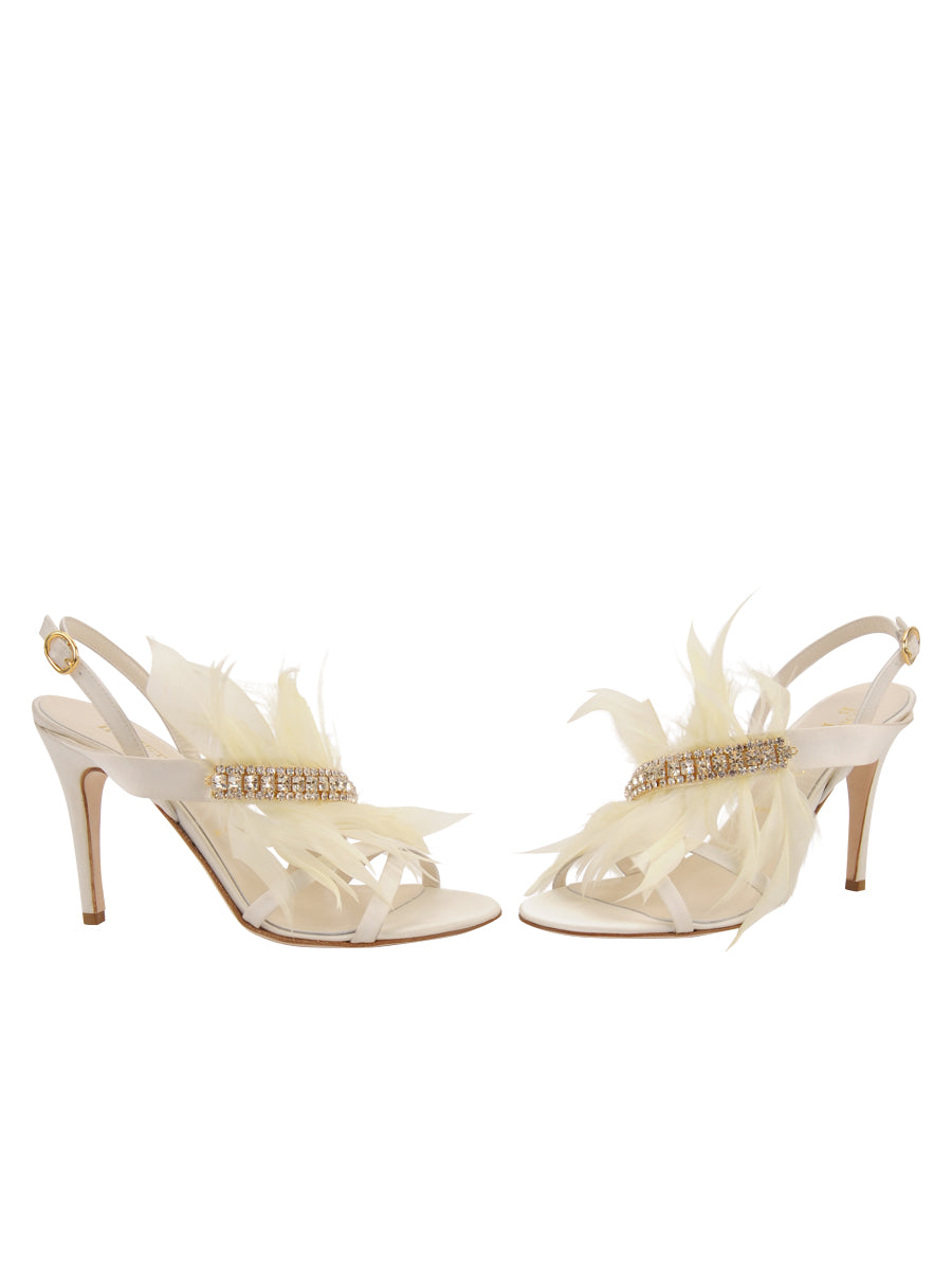 Womens Ivory Satin Hagan 5