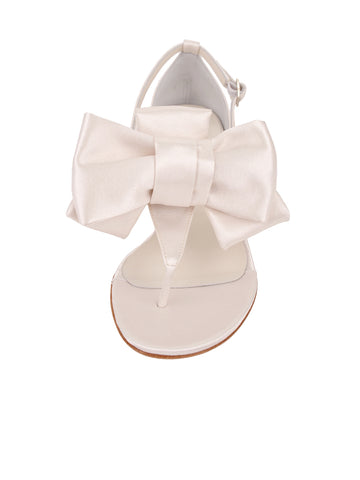 Womens Ivory Satin Isola 4 Alternate View