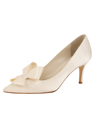 Womens Ivory Pointed Toe Pump