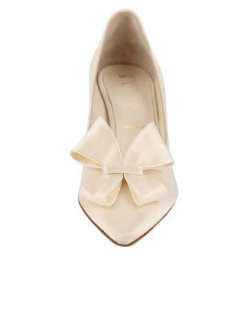 Womens Ivory Pointed Toe Pump 4 Alternate View