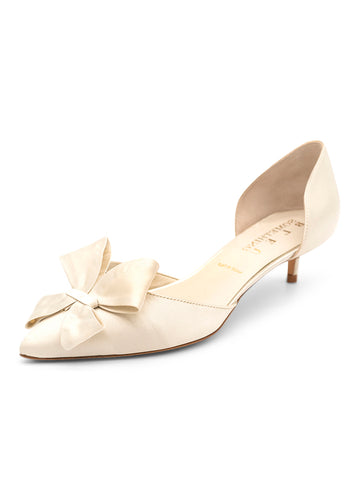 Womens Moonbeam Satin Cliff d'Orsay Kitten Heel