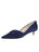 Womens Navy Satin Brenna Kitten Heel