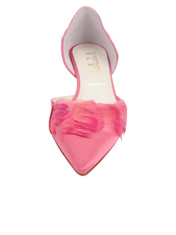 Womens Rose Pink Satin Bunty D'Orsay Kitten Heel 4 Alternate View