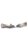 Womens Steel Blue Satin Carly 5