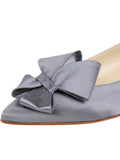 Womens Steel Blue Satin Carly 6