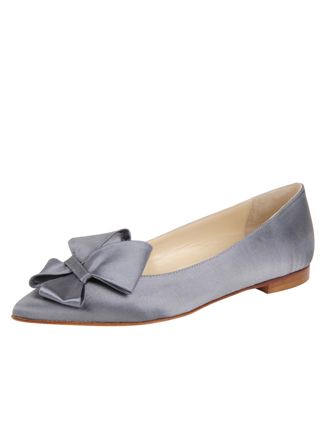 Womens Steel Blue Satin Carly