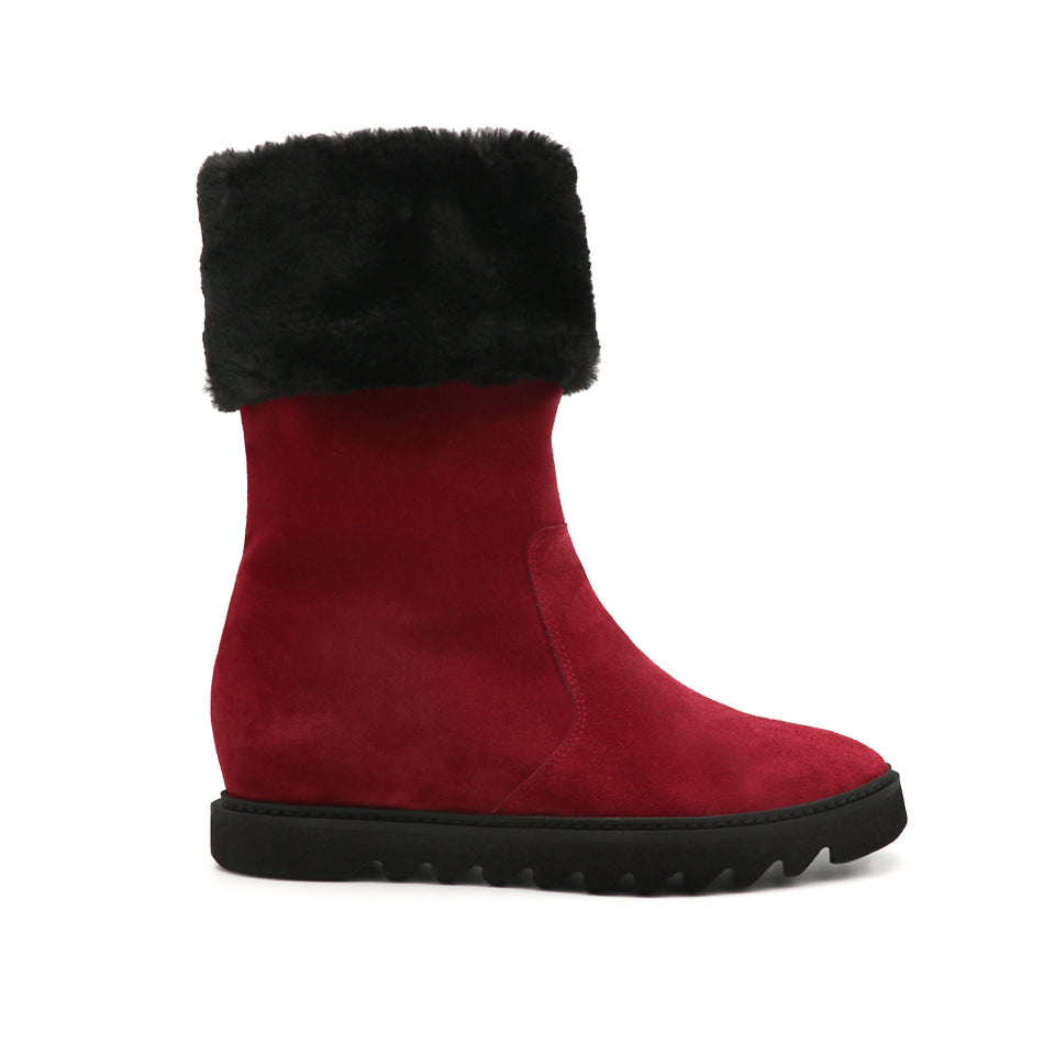 Womens Bordeaux Velour Dumbo Boot 2