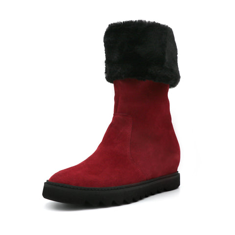 Womens Bordeaux Velour Dumbo Boot