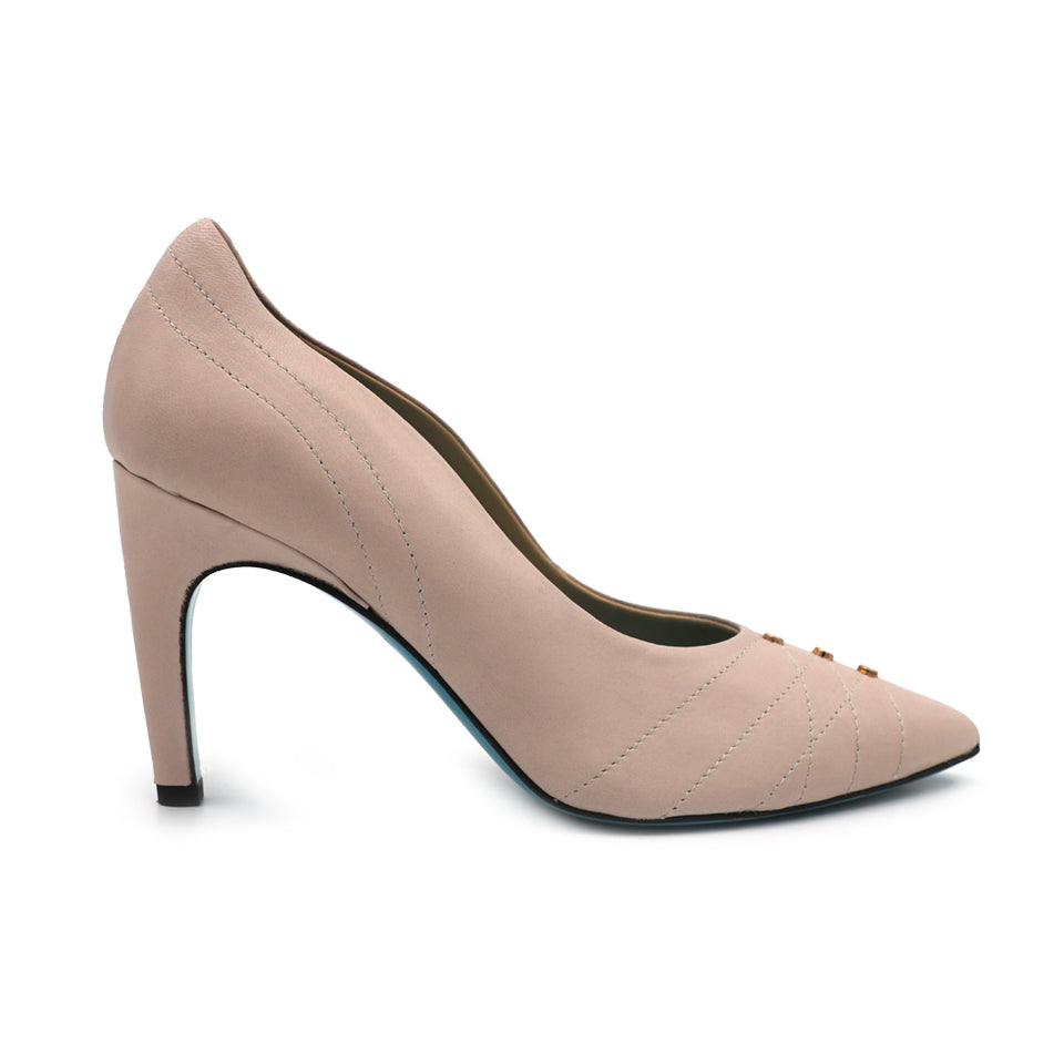 Womens Confetto Nude Parmasoft Marzio Pointed Toe Pump 2