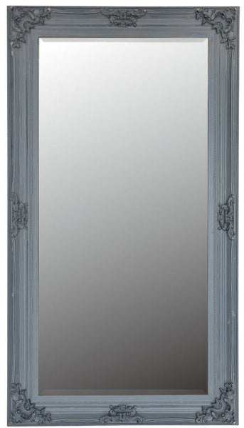 Minister Vintage French Style Grey Floor Mirror - Khans Interiors