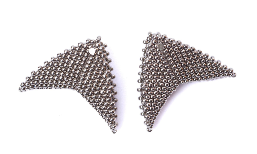 Grace Earrings in Palladium (Precious Collection)