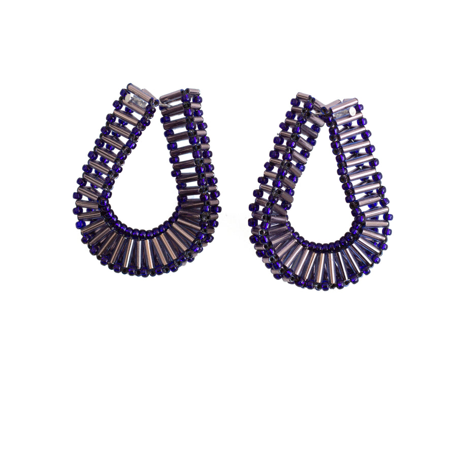 Embrace Earrings in Indigo