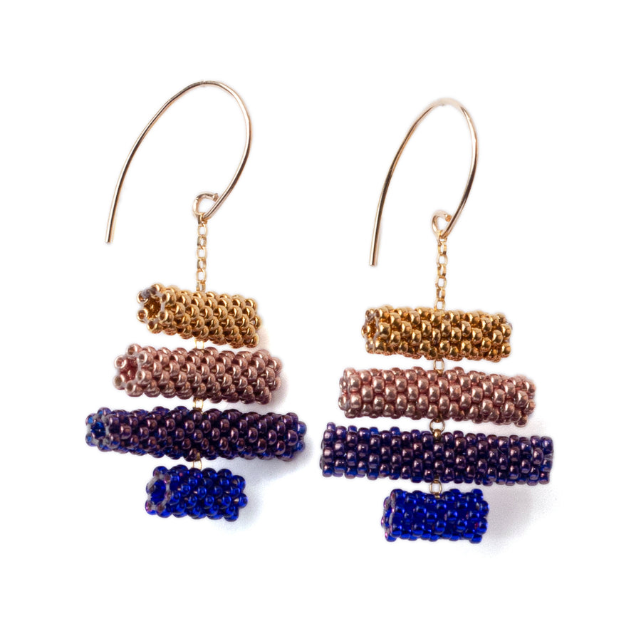 Iona Earrings in Indigo