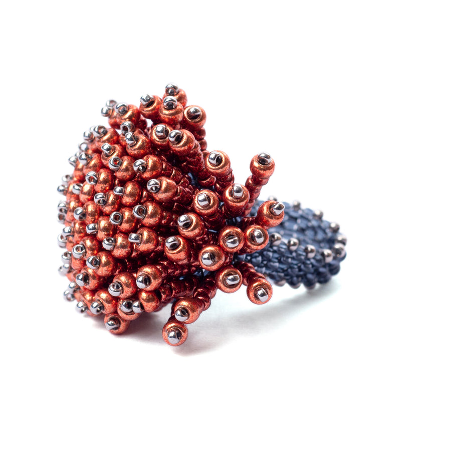 Ocean Floor Ring in Red