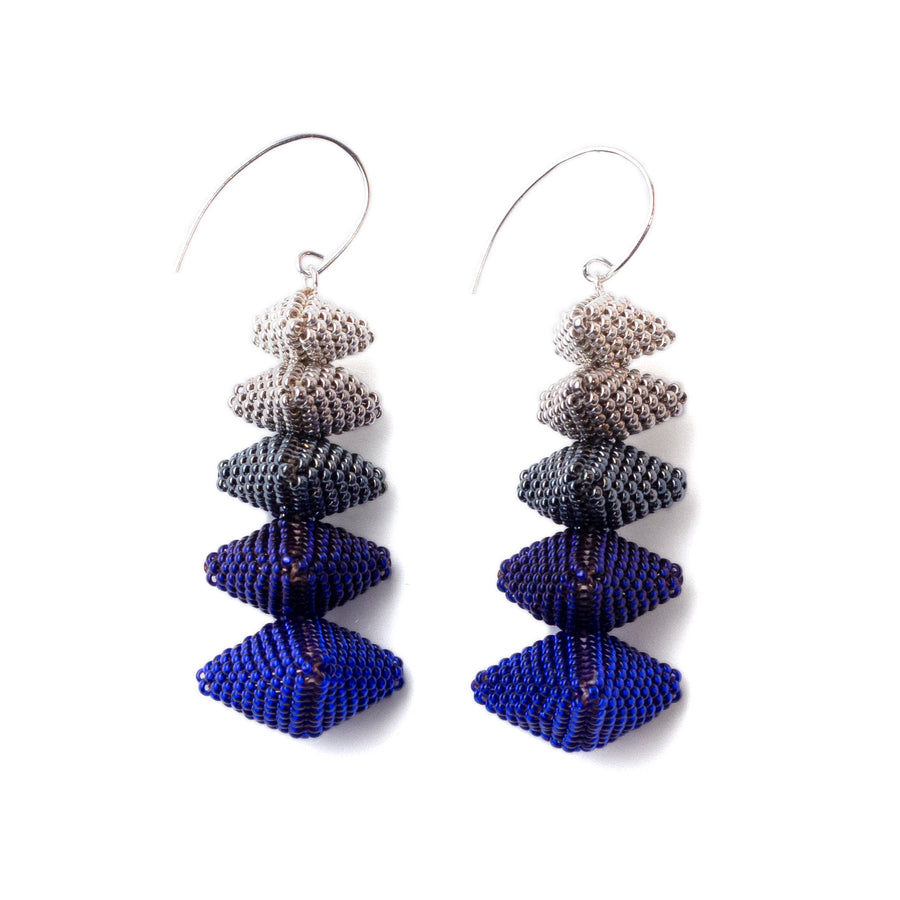 Twelve Apostles Earrings in Indigo