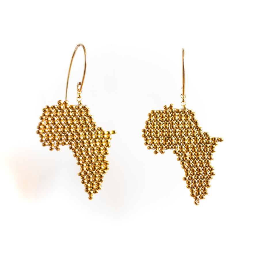 Africa Earrings in Gold
