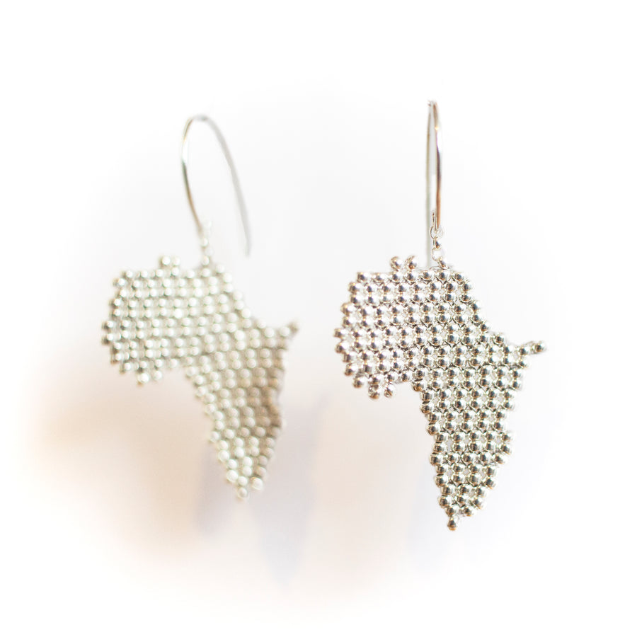Africa Earrings in Silver